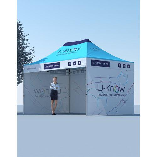 Tente Aluminium 4,5x3m objet publicitaire original