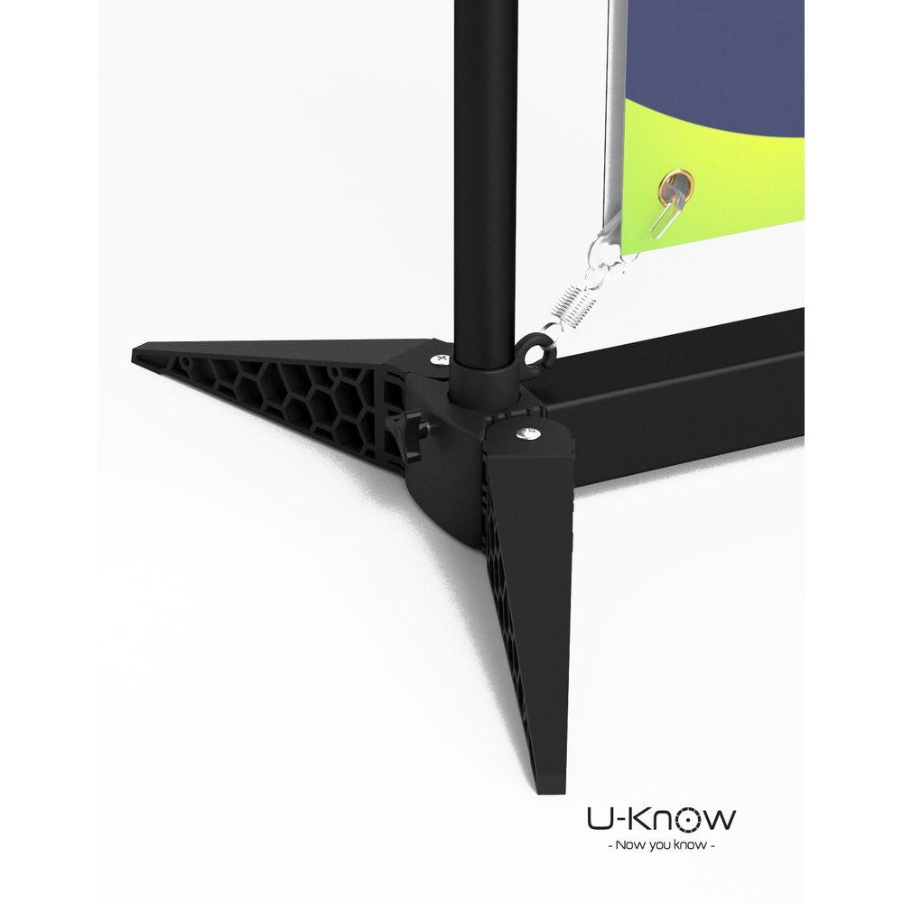 Stand Noir HD 85 x 200 cm personnalisé  goodies objets publicitaires