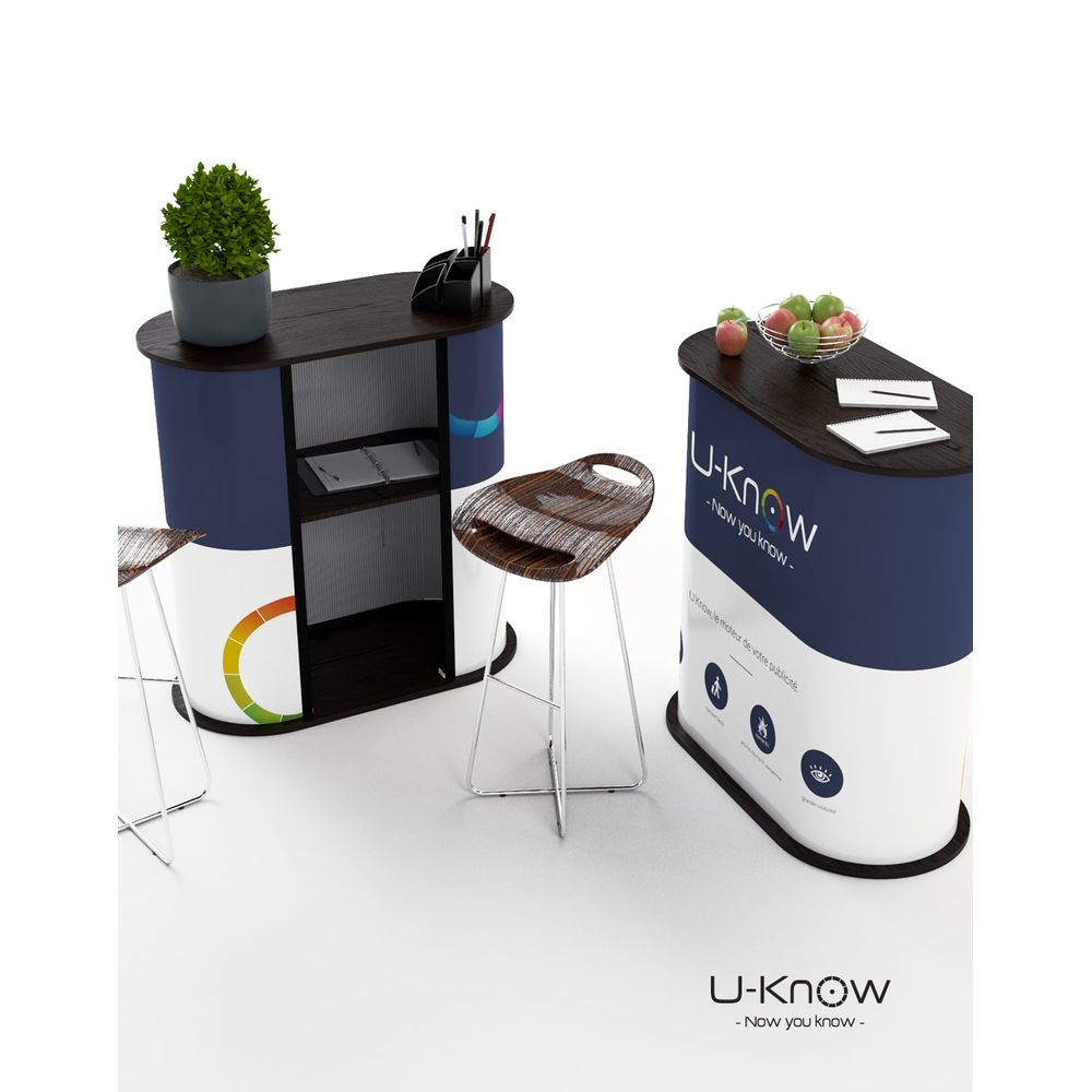 Comptoir D'Accueil Oval personnalisé  goodies objets publicitaires
