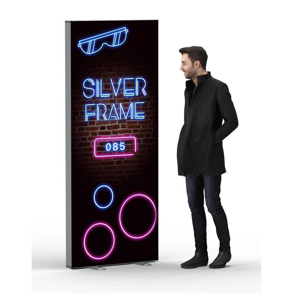Box lumineuse en aluminium 85 x 200 cm