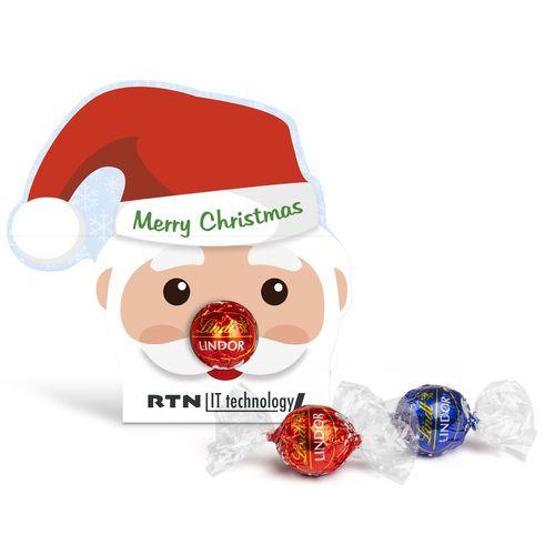 CHOCOLAT LINDT LINDOR dans un carton personnalisé «Père Noël»