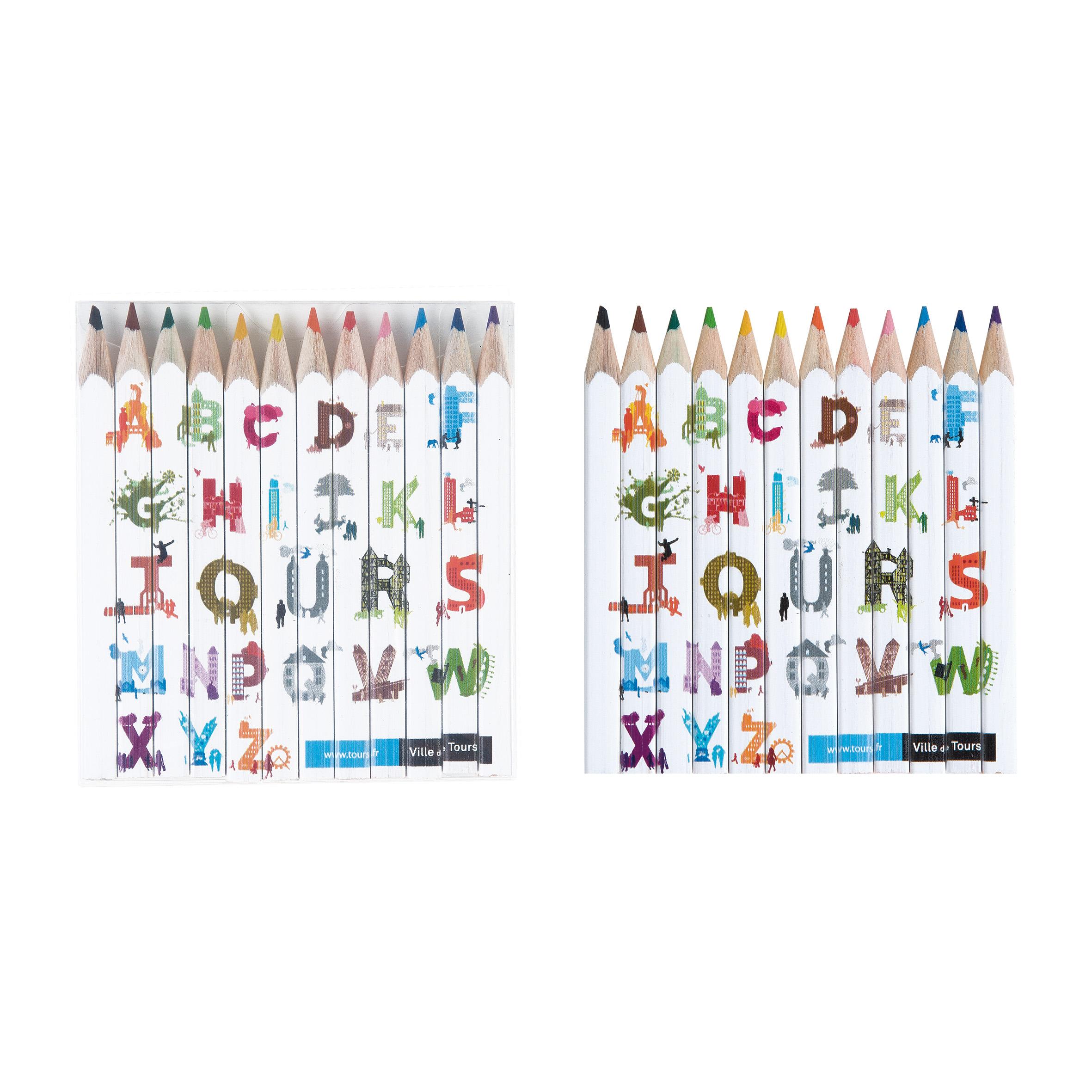 SET QUADRI 12 COUL 8,7 cm Fashion Goodiz goodies objet personnalisé cadeaux d affaire objets publicitaires
