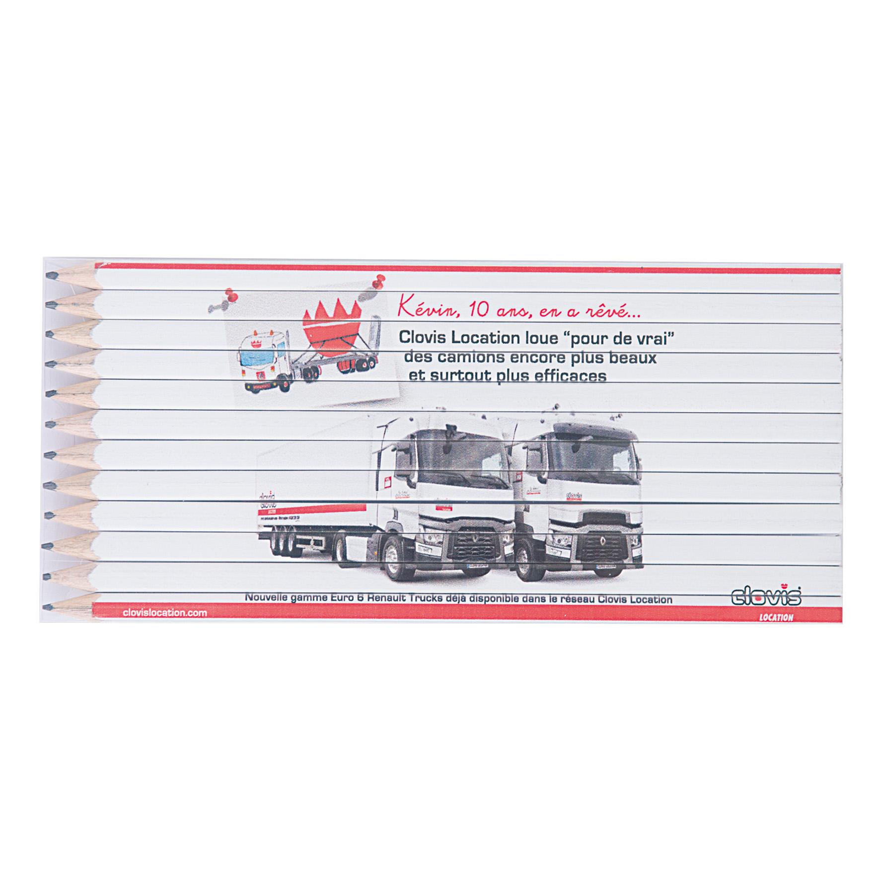 SET QUADRI 12 GRAPHITE 17,6 cm Fashion Goodiz goodies objet personnalisé cadeaux d affaire objets publicitaires