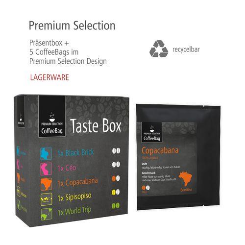 CoffeeBag Taste-Box 5 Sorten - Premium Selection ANDRANG GmbH Bahnhofstrasse 54 71332 Waiblingen SANDERS IMAGETOOLS GmbH & Co. KG