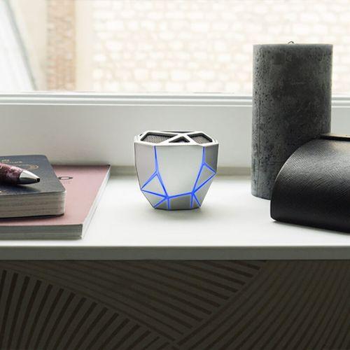 Geo Speaker Silver Blue led