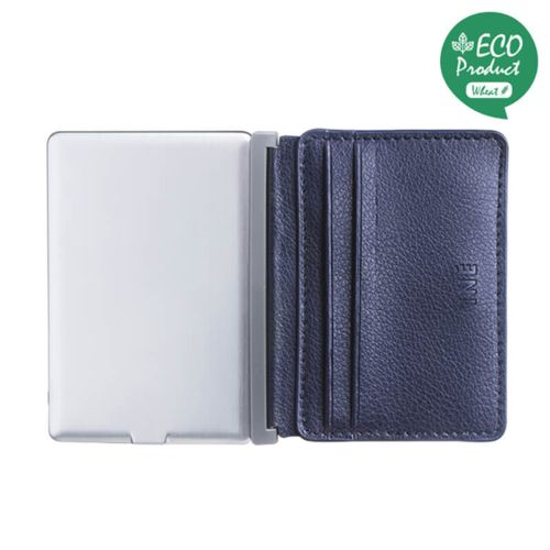 Iné Recycled Leather Newport Navy Blue