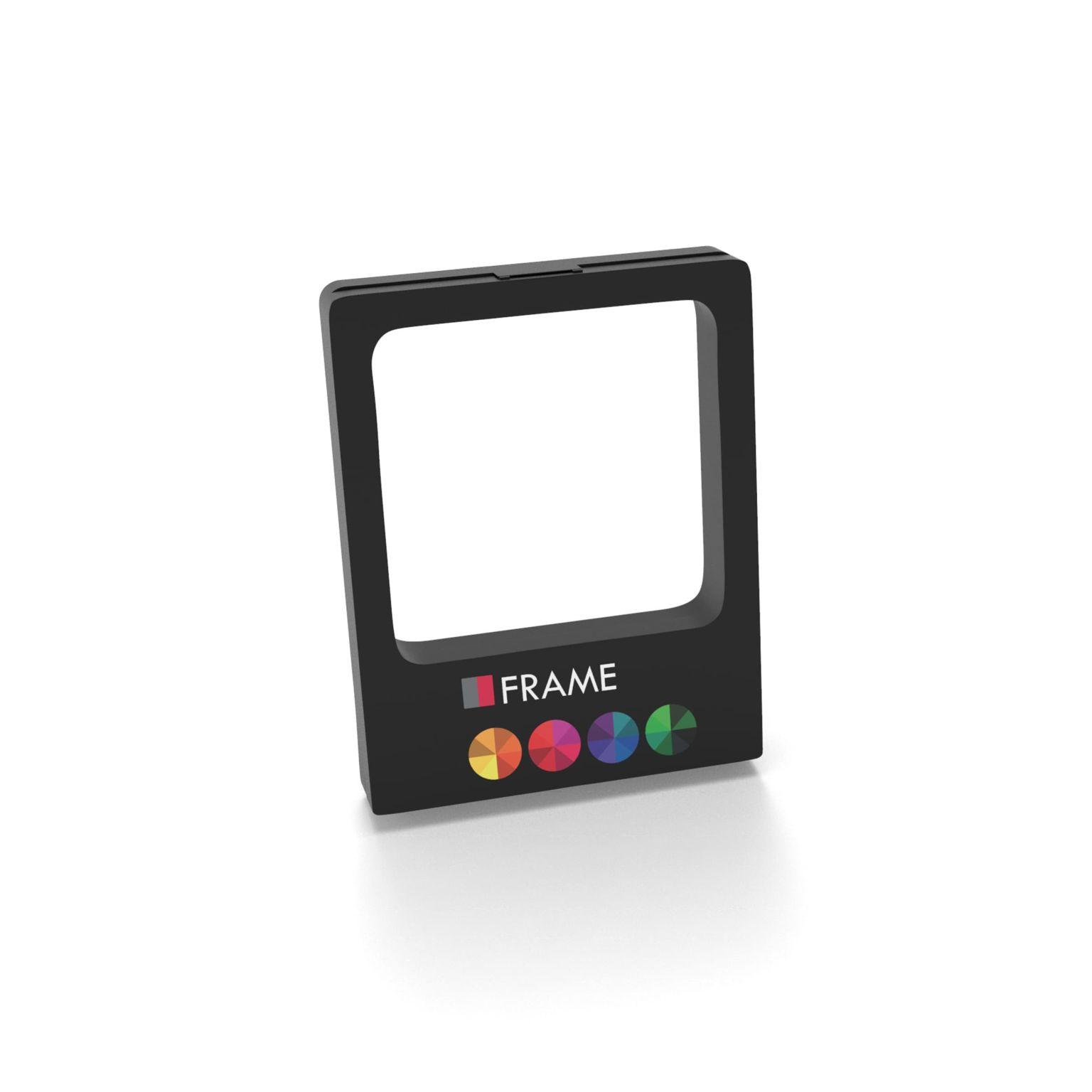 Gift Box Frame with print 9 x 11 x 2 cm with print in full color Noir avec impression quadri