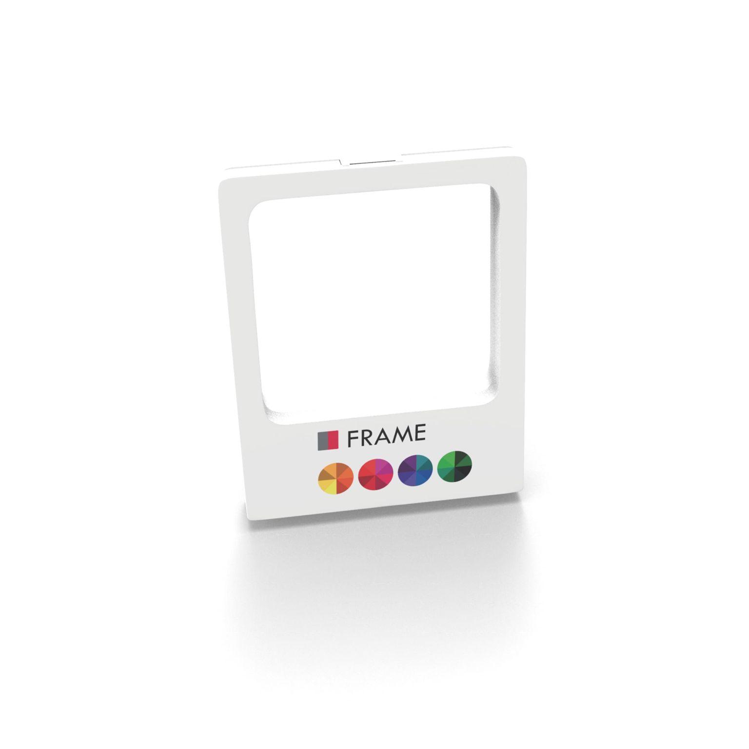 Gift Box Frame with print 9 x 11 x 2 cm with print in full color Blanc avec impression quadri