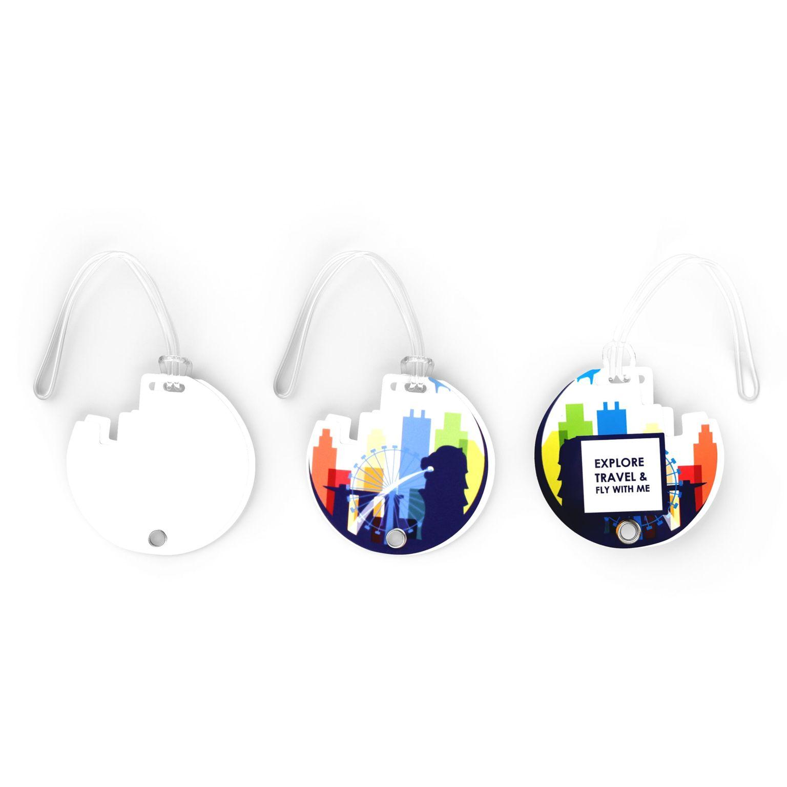 Luggage Tag Contour Blanc avec impression quadri - ISOCOM - OBJETS ET TEXTILES PERSONNALISES - NANTES