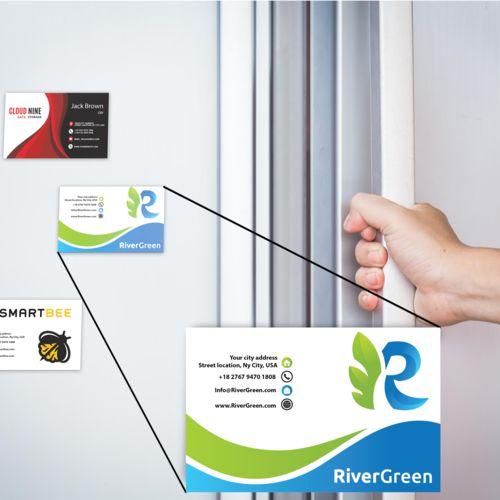 Magnetic Business Card  Marron avec impression quadri
