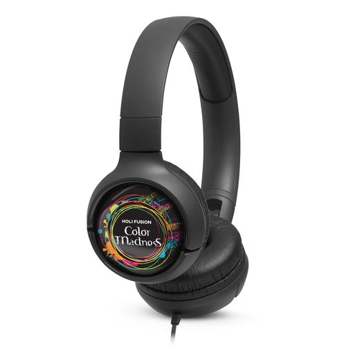 JBL On-Ear TUNE 500 Personalized Noir avec doming quadri