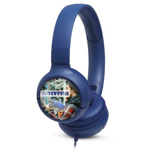 JBL On-Ear TUNE 500 Personalized Bleu avec doming quadri