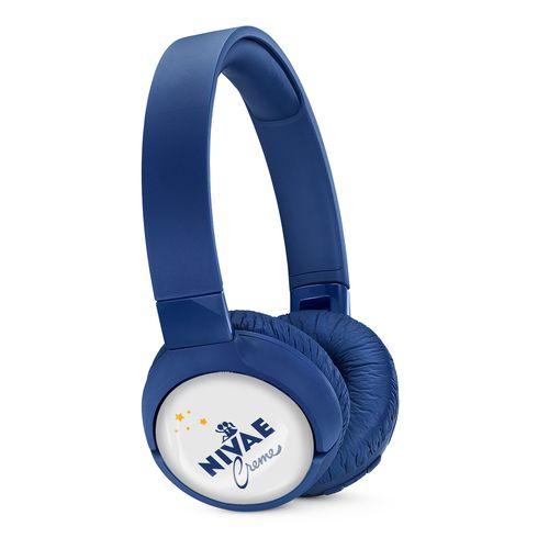 JBL On-Ear TUNE 600BTNC Personalized Bleu avec doming quadri