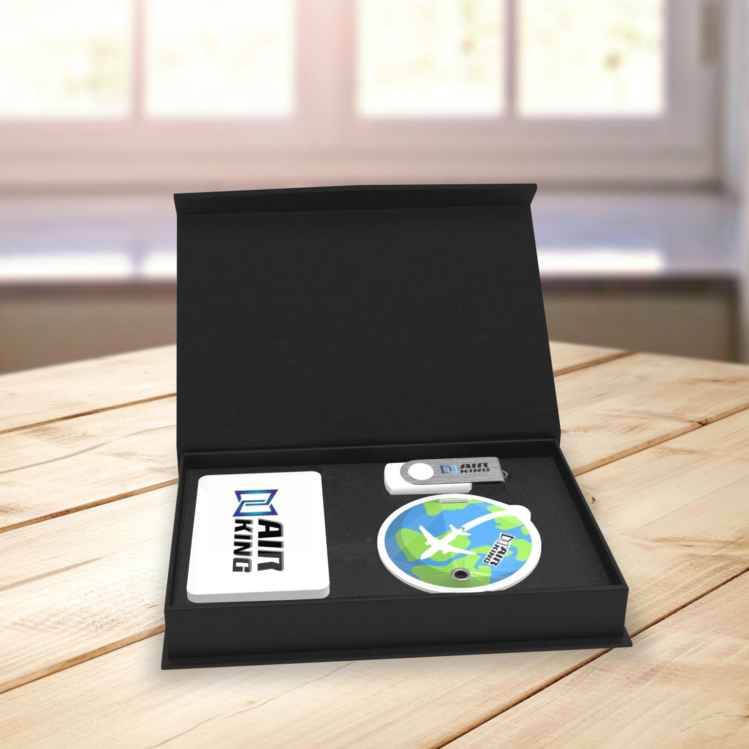 Travel gift set Noir - ISOCOM - OBJETS ET TEXTILES PERSONNALISES - NANTES