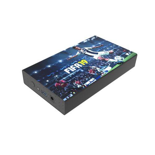 White Lake Ultra External HDD 3TB Noir avec impression quadri