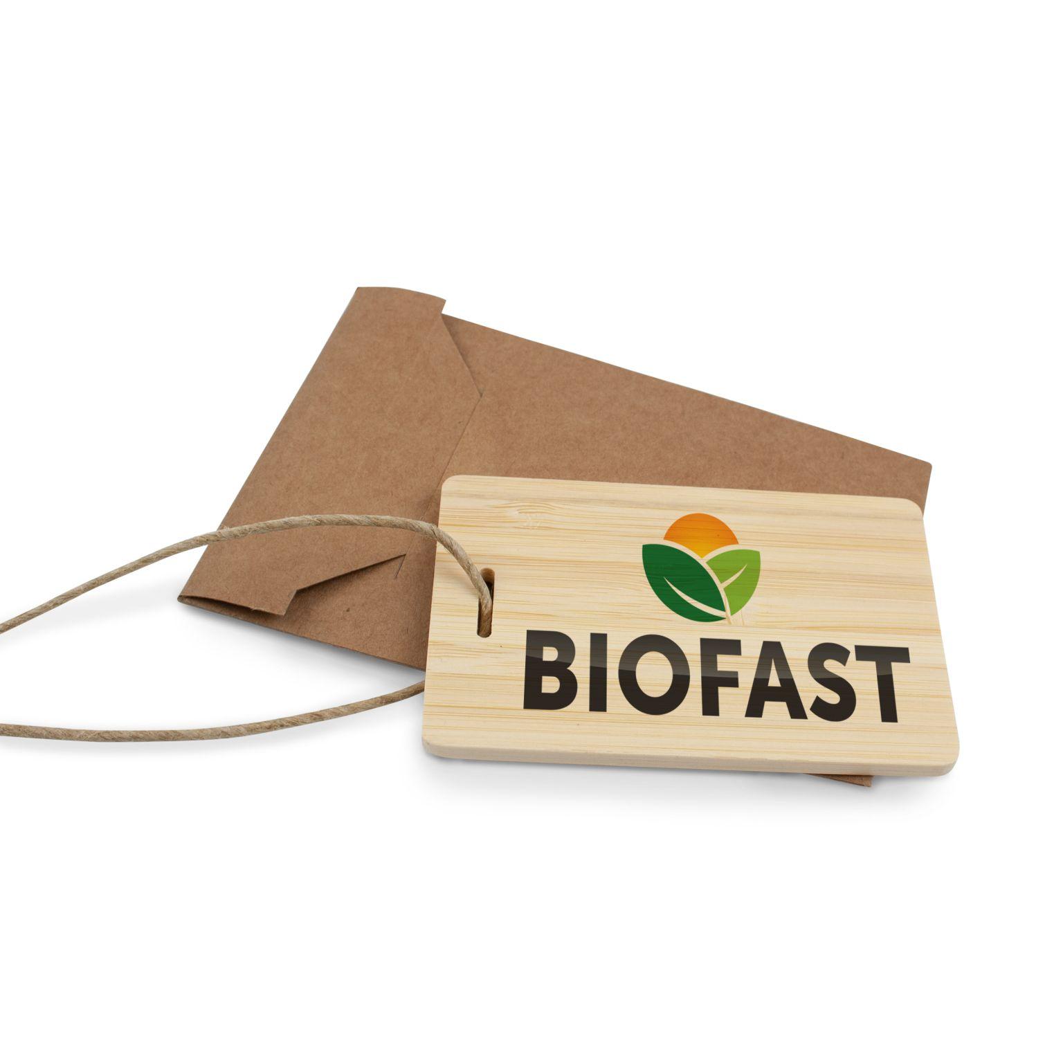 Eco Luggage Tag Bamboo avec impression quadri