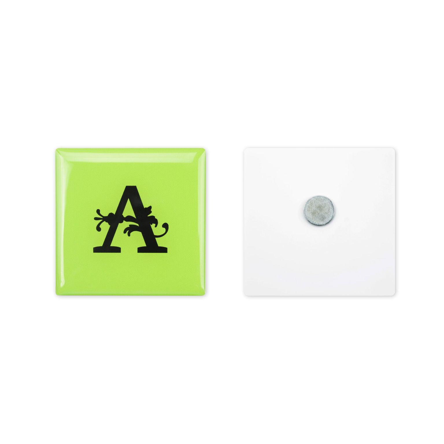 Whiteboard Magnet Custom Full color doming Blanc avec doming quadri