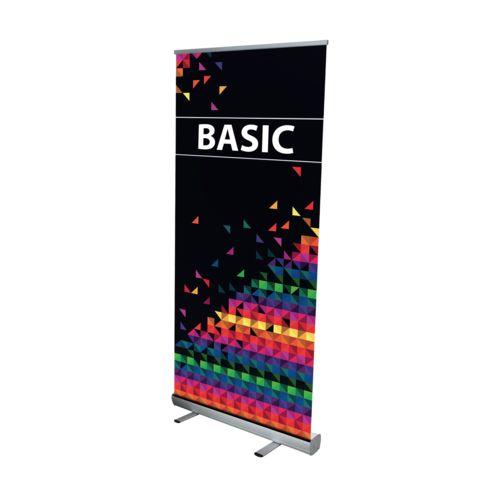 Banner Basic 85 x 200 cm Argent avec impression quadri
