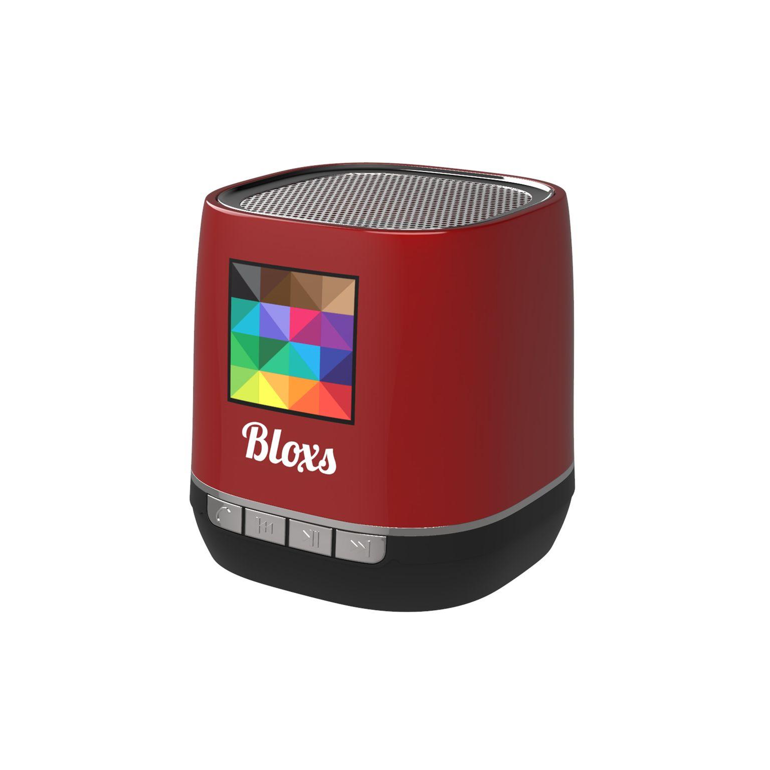 Retro Speaker Print in full color Rouge avec impression quadri