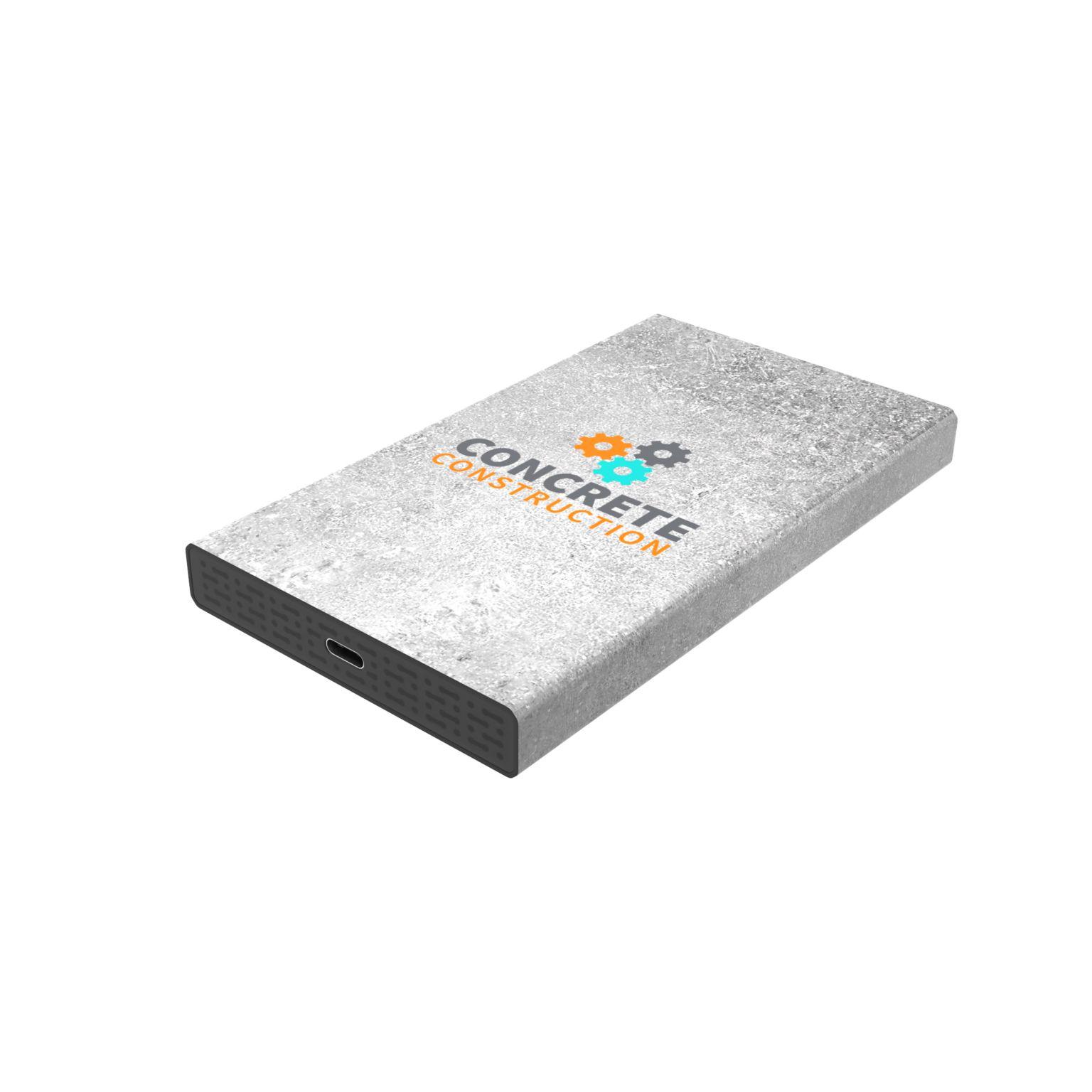 White Lake Pro External HDD 2TB, Max Print Noir avec impression quadri publicitaire à personnaliser aux couleurs de votre société !