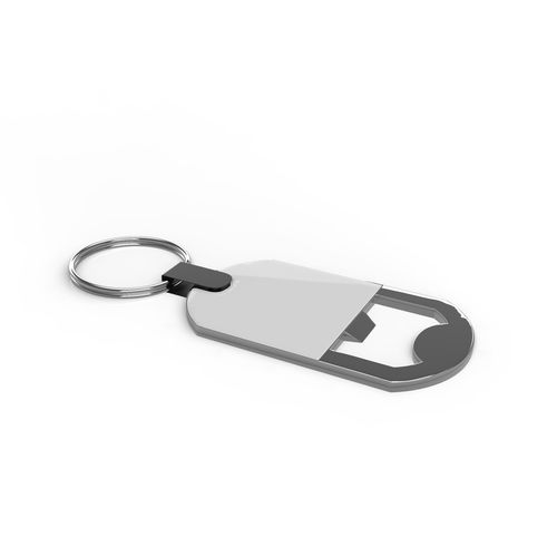 Key Ring Bottle Opener Argent