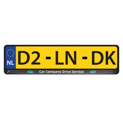 License Plate Doming   with doming in full color