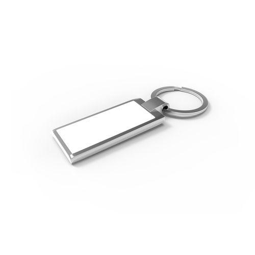 Key Ring Verso Rectangular Argent publicitaire à personnaliser aux couleurs de votre société !