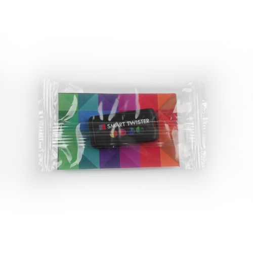 Flow Pack with inlay Flow Pack with inlay 80 x 50 mm avec impression quadri