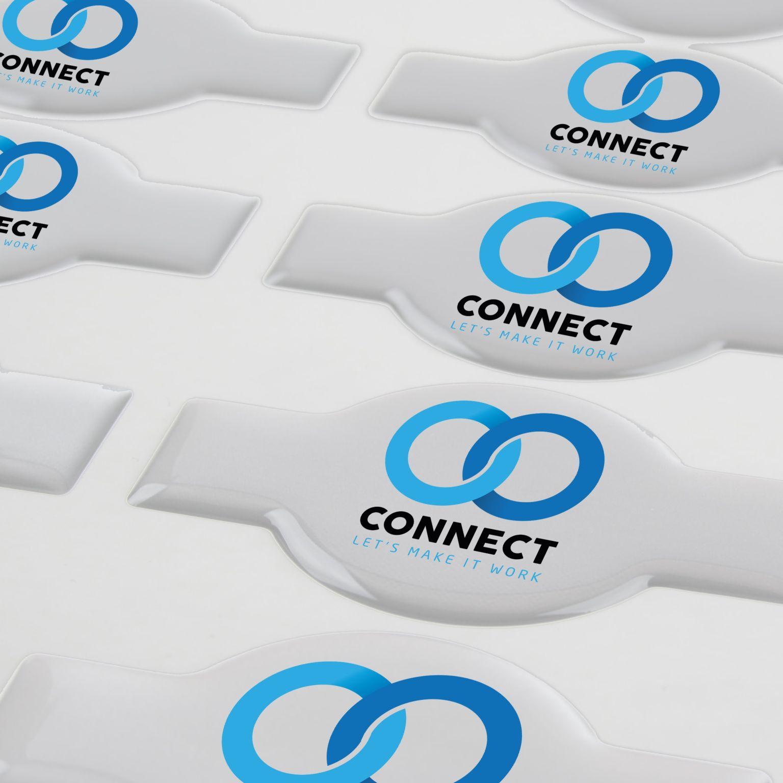 Doming Sticker Flexible Contour Matt, Flexible Contour, Extra adhesive, < 5 cm2 avec doming quadri   PHOSPHORESCENCE 267, rue François Perrin par PHOSPHORESCENCE
