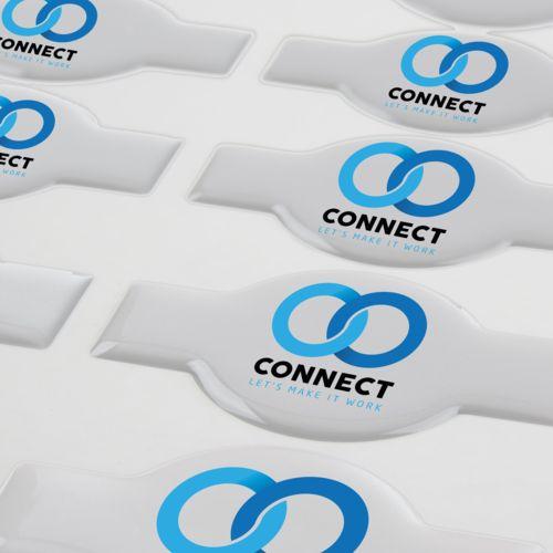 Doming Sticker Flexible Contour Matt, Flexible Contour, Extra adhesive, < 5 cm2  avec doming quadri