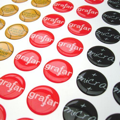 Doming Sticker Flexible Matt, Flexible, Extra adhesive, < 5 cm2  avec doming quadri