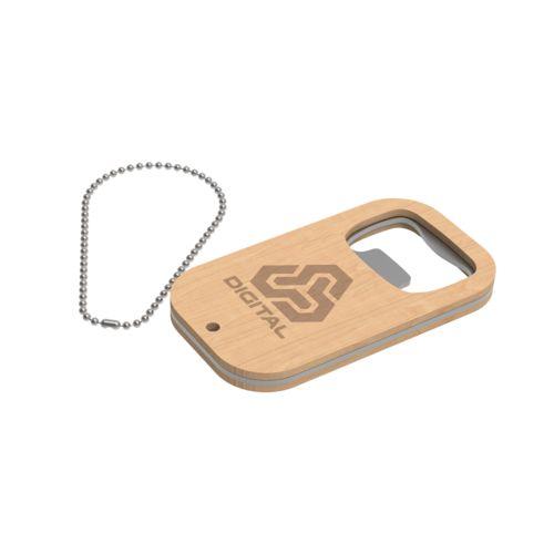 Key Ring Atlanta  Brown with laser engraving