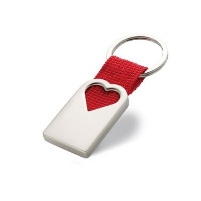 Porte clef coeur en métal