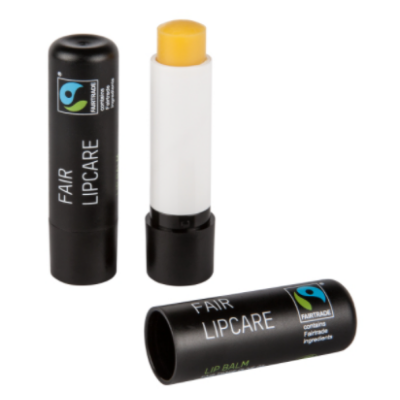LIPCARE RECYCLED PLASTIC FAIRTRADE FAIRTRADE & BIO AZAP  branded Personalized Printed Goodies by Azap Business Gift