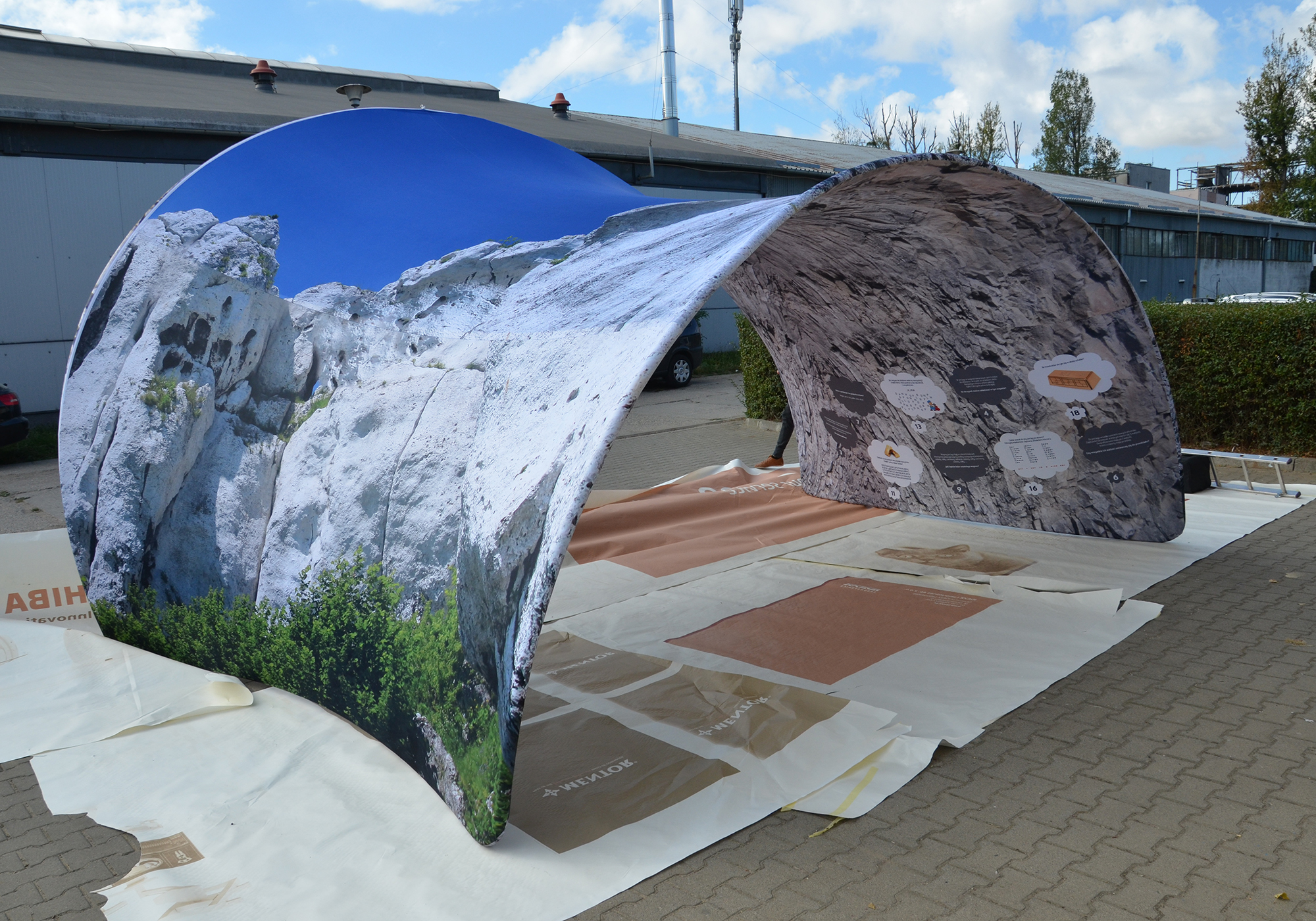 Arche TxW Shelter 550 cm Objets publicitaires  personnalisation  FRANCE SUD PIERRE BE DISPLAY goodies personnalisation marseille