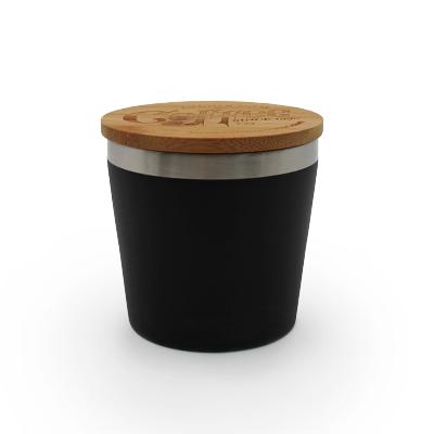 Mug isotherme 'Nagano' avec couvercle en bambou
