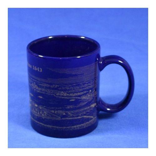 Porzellantasse, Becher kobalt, inkl. Frontbild  8 x 9,5 cm
