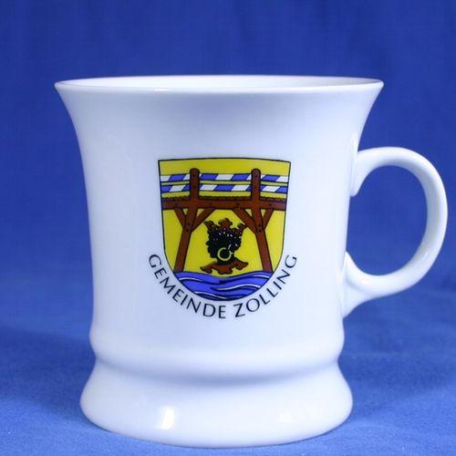 Tasse, Porzellan, Kaffeehaferl 9,8 x 10 cm Walter Präsente personalisierte Werbeartikel