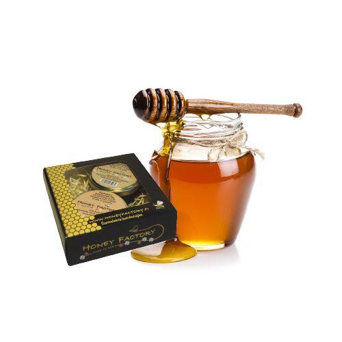 Honeyfactory lahjapakkaus, lehmus- ja voikukkahunaj