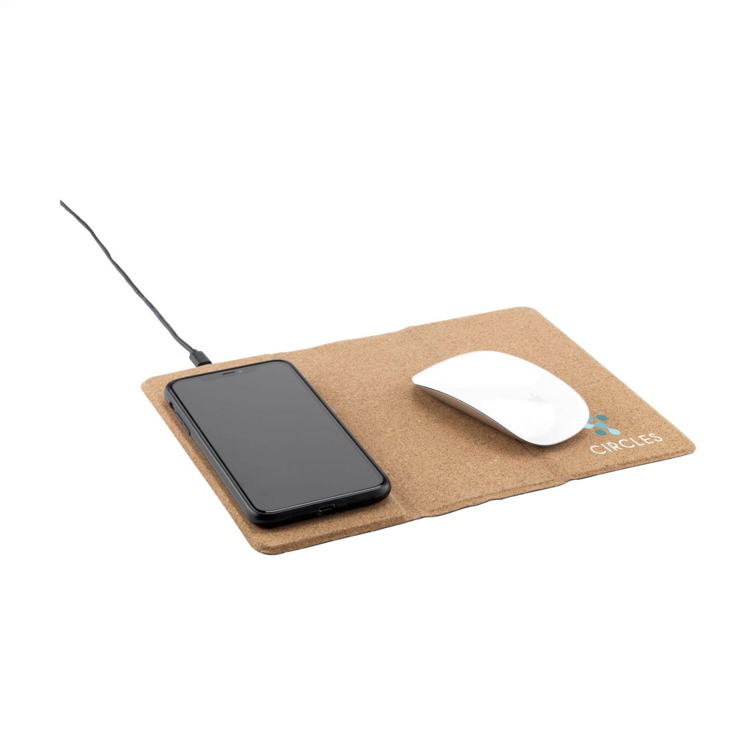 Cork Wireless Charging Mousepad tapis de souris