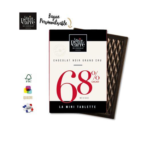 Mini Tablette 30g 68% Mexique PERSONNALISABLE