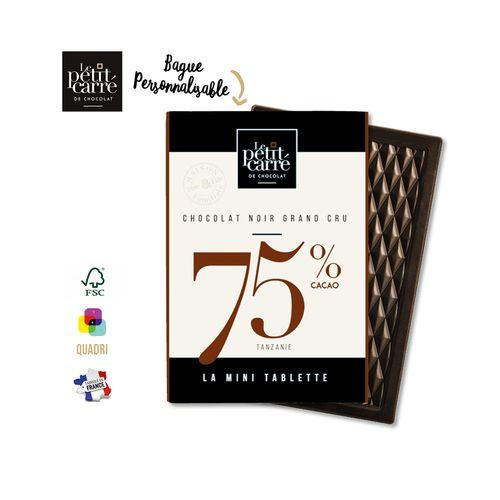 Mini Tablette 30g 75% Tanzanie PERSONNALISABLE