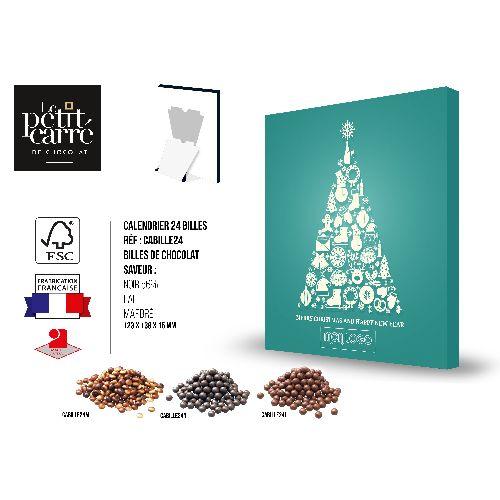 Calendrier de l'Avent Billes de chocolat Marbré