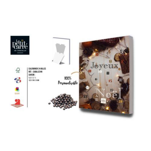 Calendrier de l'Avent Billes de chocolat Noir