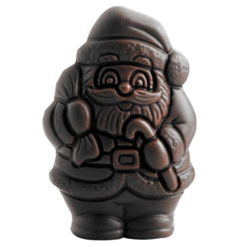Moulage Père Noël 50g chocolat noir 70% Bio